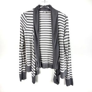 Banana Republic Striped Open Front Cardigan